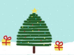 Kalėdinis atvirukas Kristina 1A